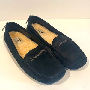 UGG Hara Moccasin in black suede